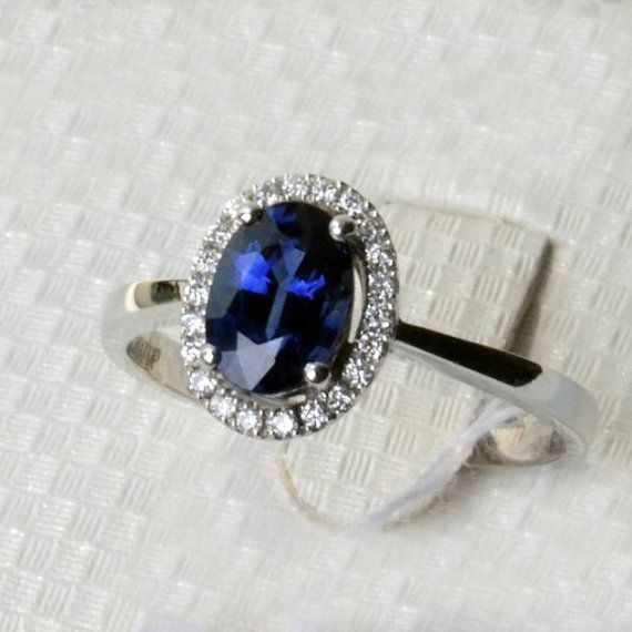 Engagement Ring 1 8 Carat Sapphire Ring With By Stevejewelry Sapphire Engagement Ring Blue Engagement Rings Sapphire Blue Sapphire Rings