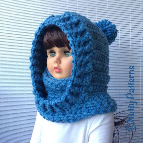 Crochet Patterns * Boston Hooded Cowl * Instant Download Pattern ...