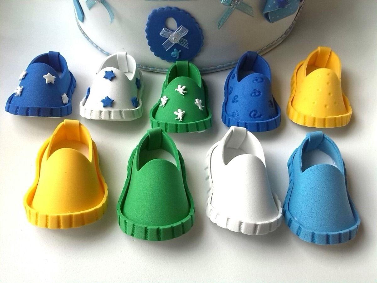 Baby Shower Zapatico Foami Tarjeta Invitacion Decorado