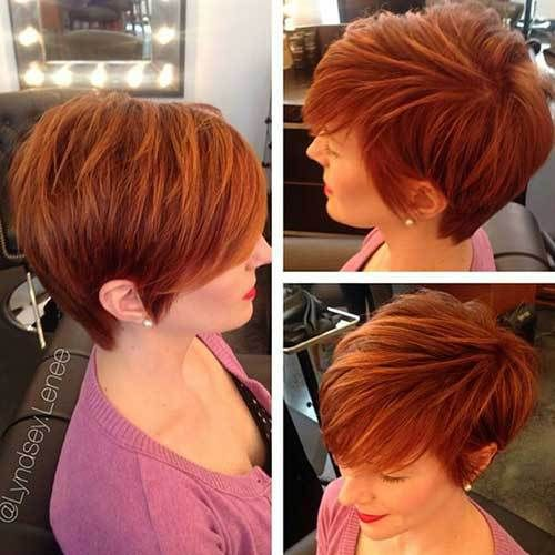 10 Chic And Showy Red Pixie Hairstyles Crazyforus Short Red Hair Short Hair Styles Hair Styles