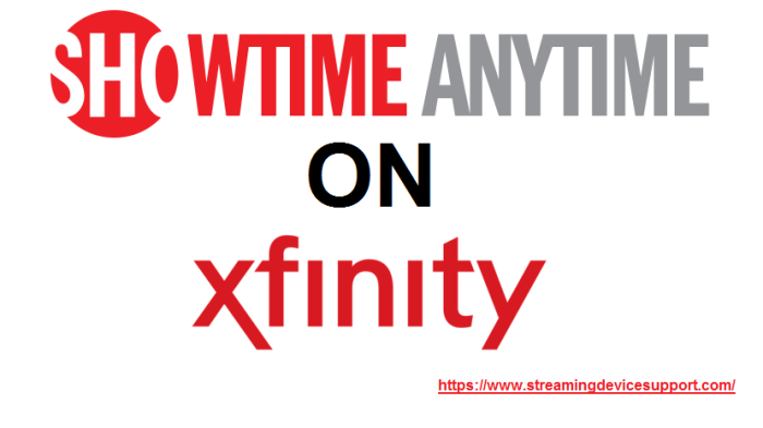 Xfinity TV Player App for Showtime Anytime Good movies