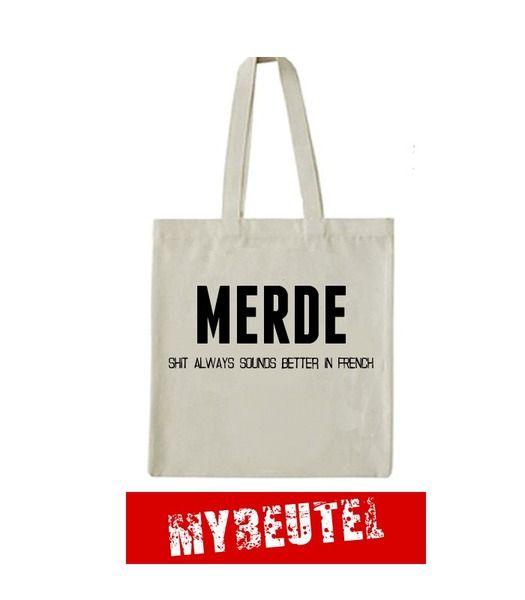Photo of Merde   Jutebeutel von MyBeutel auf DaWanda.com