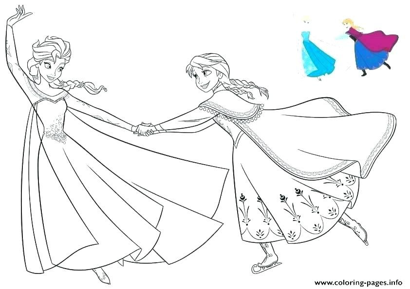 Coloring Page Elsa And Anna Frozen Coloring Pages Frozen Coloring Disney Coloring Pages