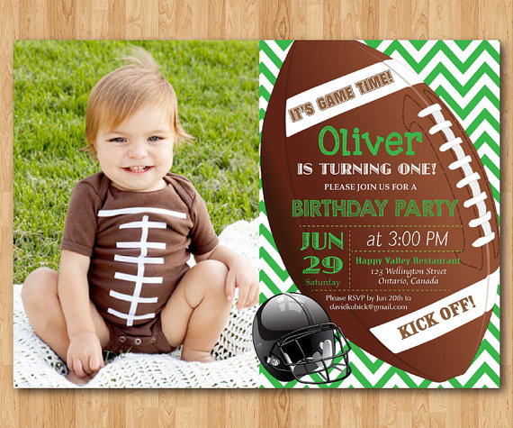 Football birthday invitation Boy 1st first birthday party invite - fresh birthday invitation of my son