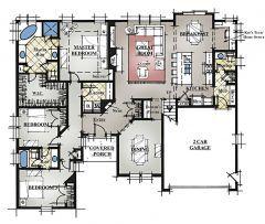 Single Story 3bd 2 5bath Jack And Jill Bath Opt Bonus Above Garage Floorplan Modele F1 Lrg Single Level House Plans Craftsman House Plans House Plans