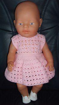 047 Gehaakt Jurkje Carli Pinterest Baby Born Baby En Baby
