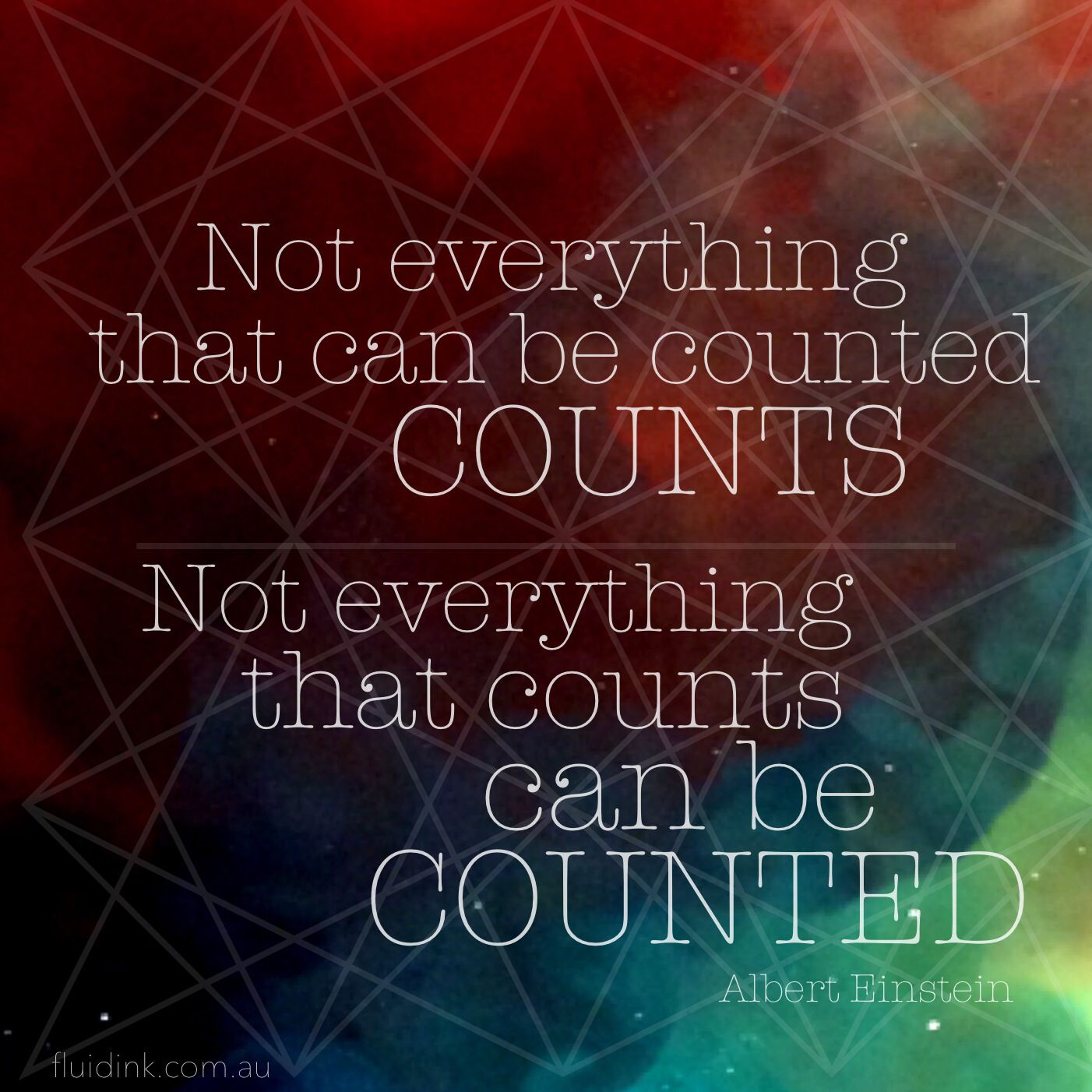 Einstein Quote Not Everything That Can Be Counted Counts Quotes