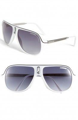 62a53f26004 Óculos Carrera Eyewear Men s Safarrs Aviator Sunglasses White  Oculos   Carrera
