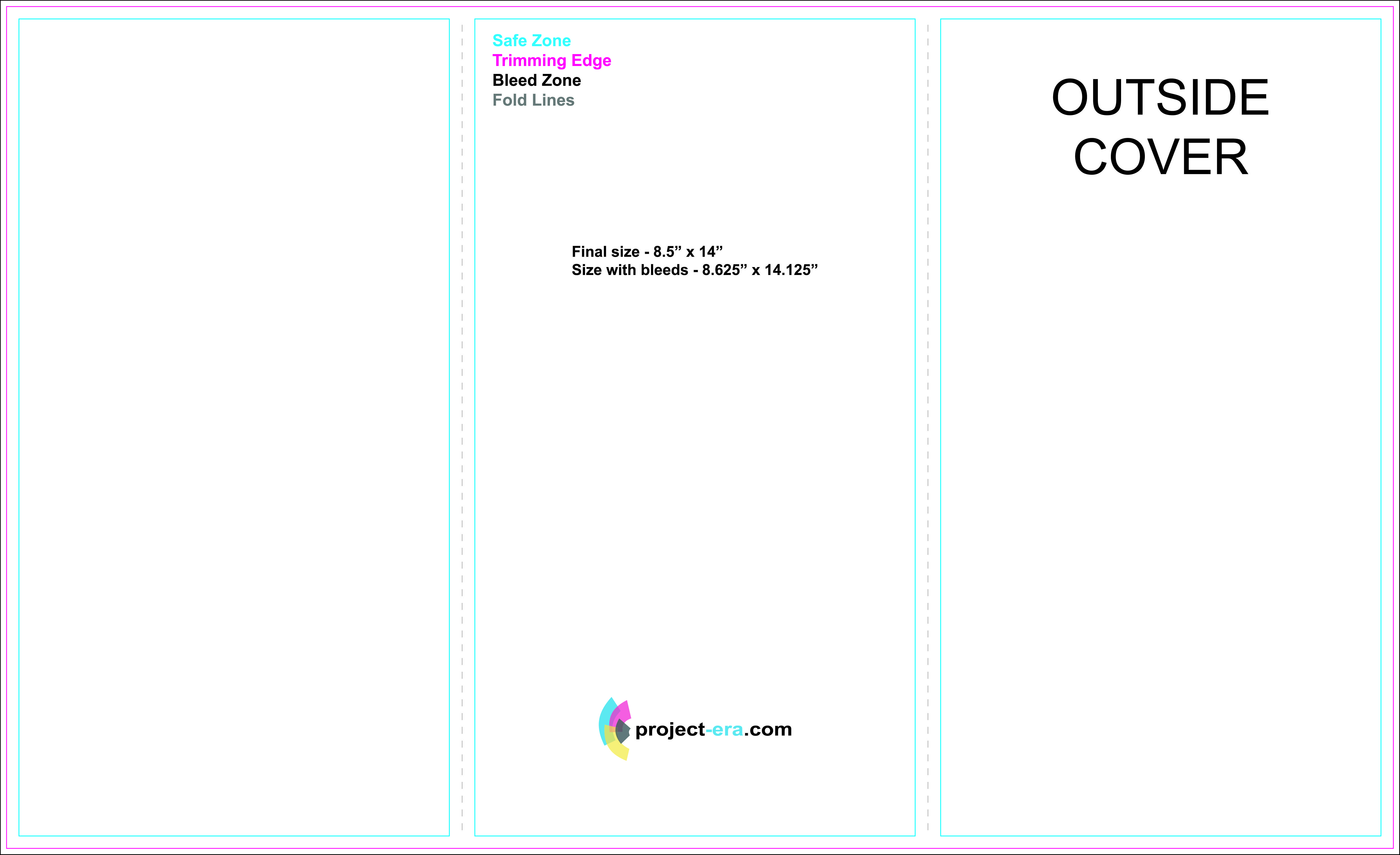 free tri fold brochure templates based on 8 5 x 14 paper size