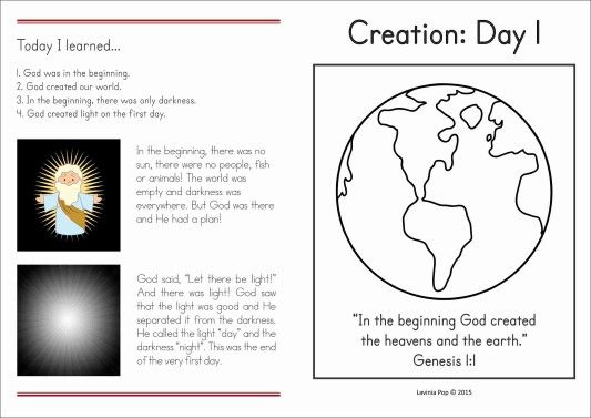Sunday School Creation Light Bible Lessons For Kids Sunday