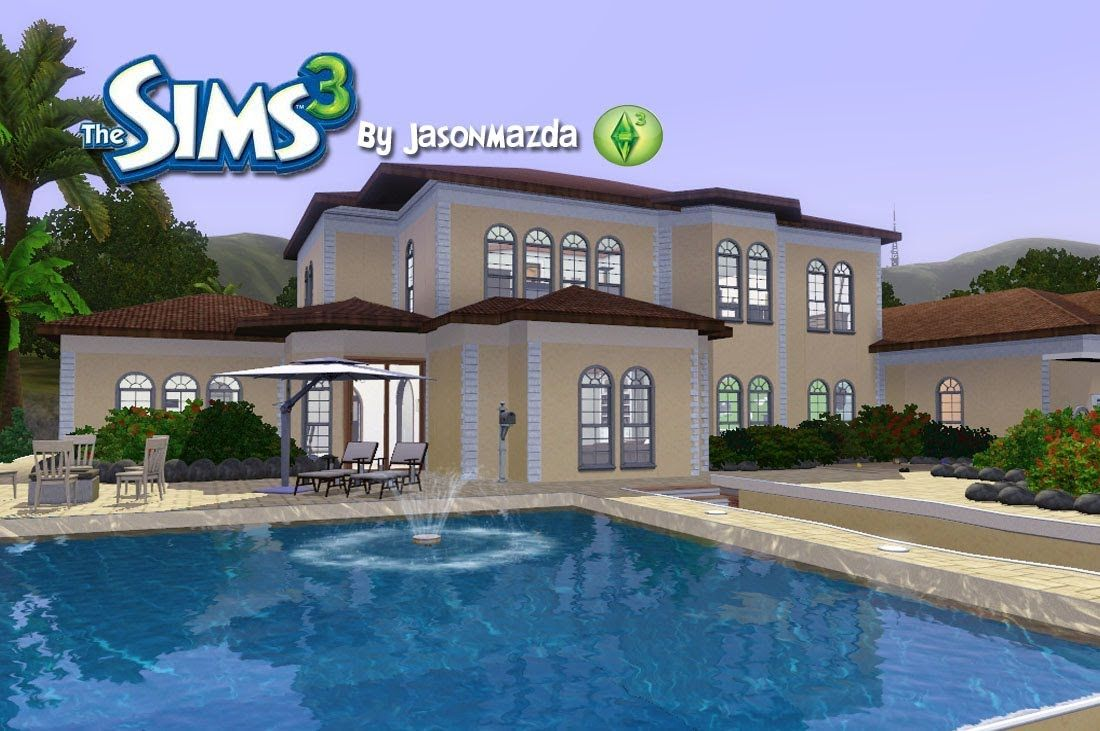 The sims 3 house designs mediterranean mansion sims 3 for Pool design sims 3