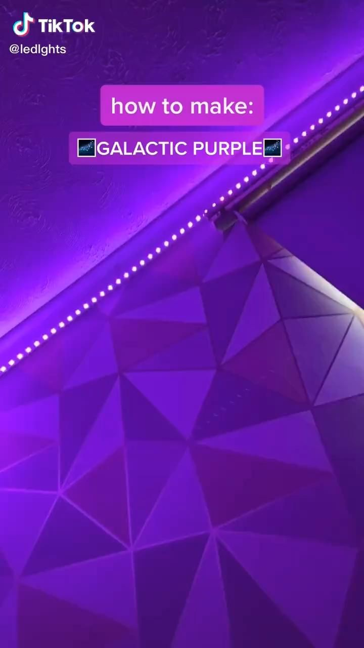 How To Make Purple On Led Lights Video Led Lighting Bedroom Led Lighting Diy Led Room Lighting