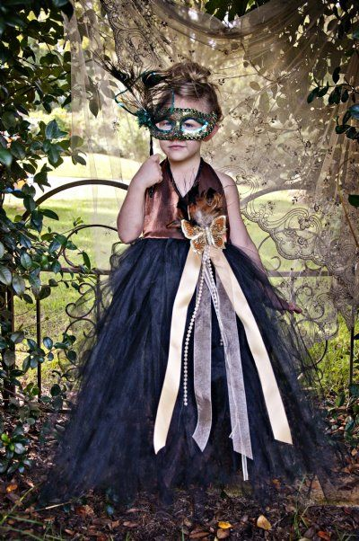 Masquerade Costumes for Little Girls Party Dresses