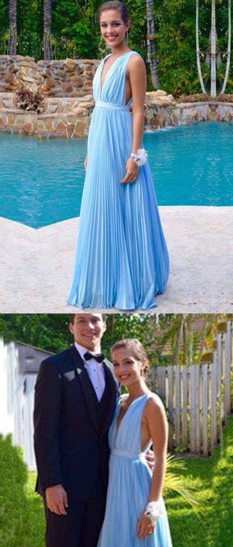 Vneck charming prom dresseslong evening dressesprom dresses on