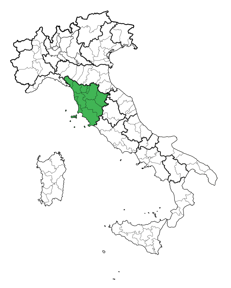 Map Region of Toscanag My Italy & FeRRaGoSTO