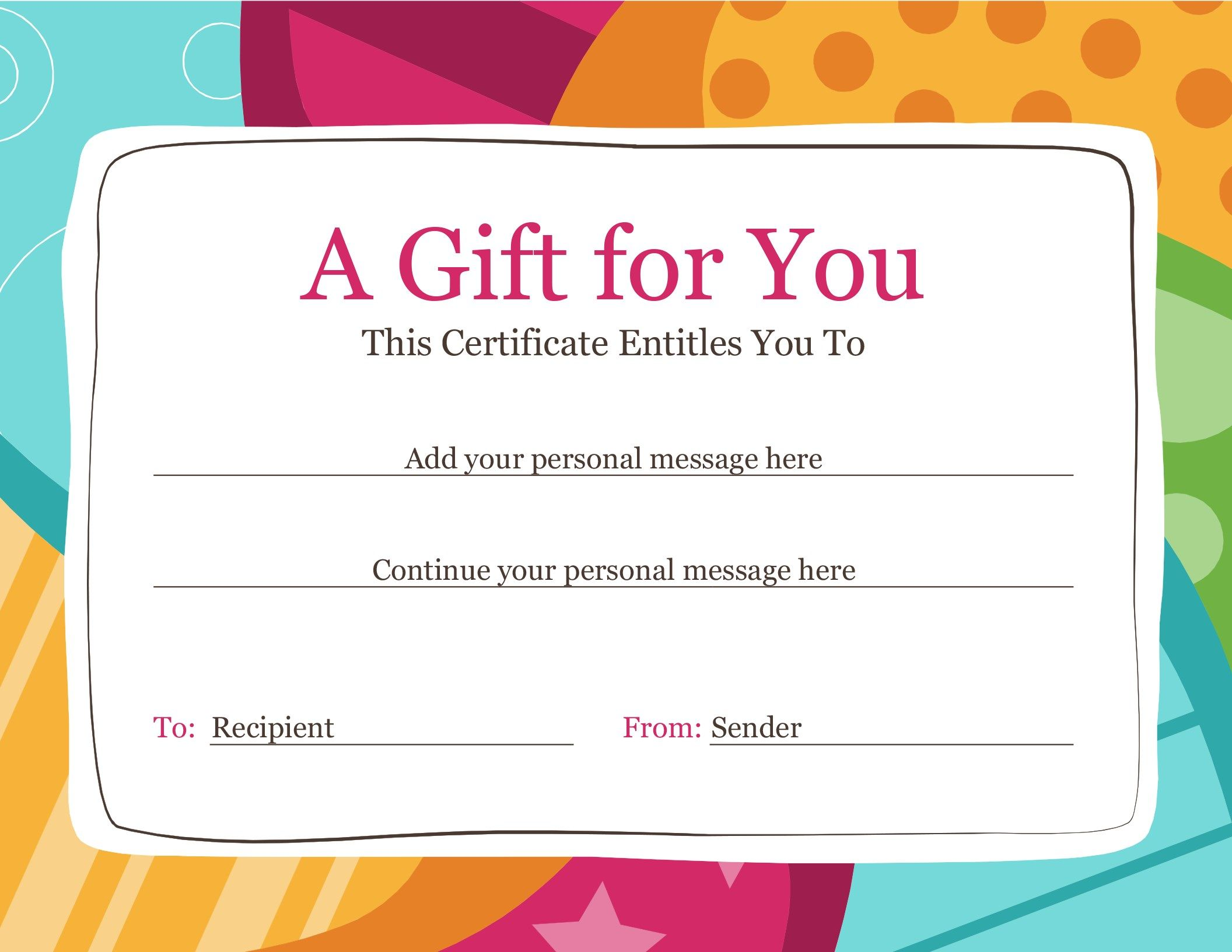 21 Fresh Surprising Birthday Gifts The Picture Free Gift Certificate Template Gift Certificate Template Word Printable Gift Certificate