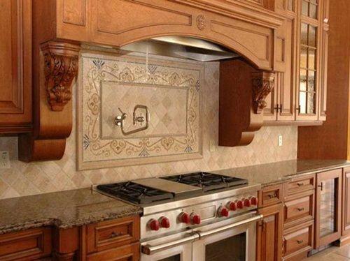 The Right Paint Colors For Kitchen With Oak Cabinets Kitchen Backsplash Tile Designs Kitchen Backsplash Designs Country Kitchen Backsplash