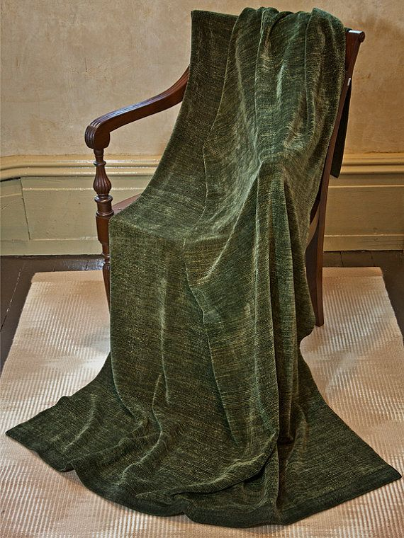 Hand Woven Throw Blanket Olive Green Chenille Home Comforts Unique Olive Green Throw Blanket