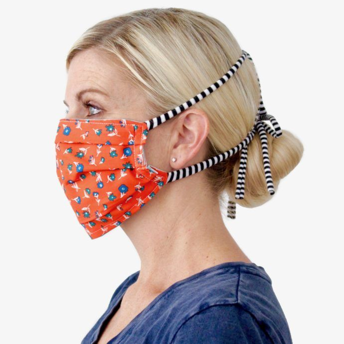 Fabric Face Mask With Ties Or Elastic Easy Face Masks Diy Face
