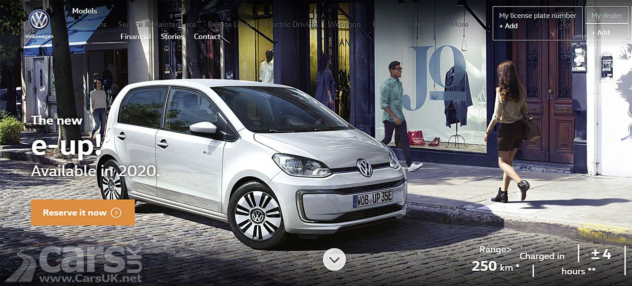 2020 Volkswagen E Up Longer Range Confirmed Volkswagen Cars Uk