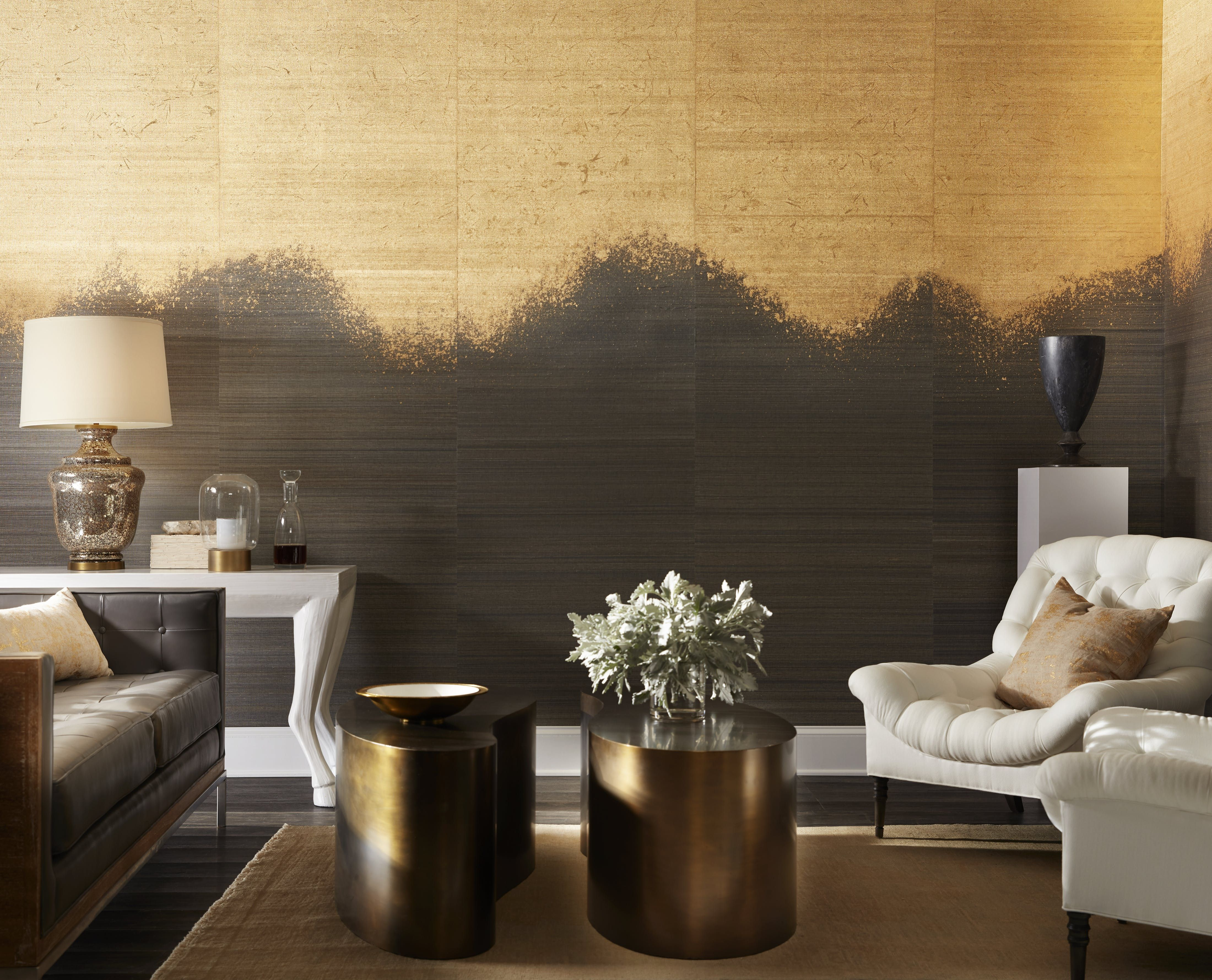 We are swooning over this Metallic Ombré wallcovering