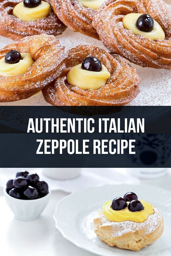 Zeppole di San Giuseppe   Traditional Italian St. Joseph's pastries