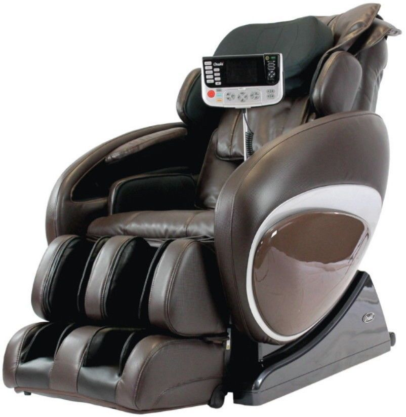 Osaki OS 4000T Massage Chair Zero Gravity Foot Rollers Heat Body Scan Brown  #massagechair #