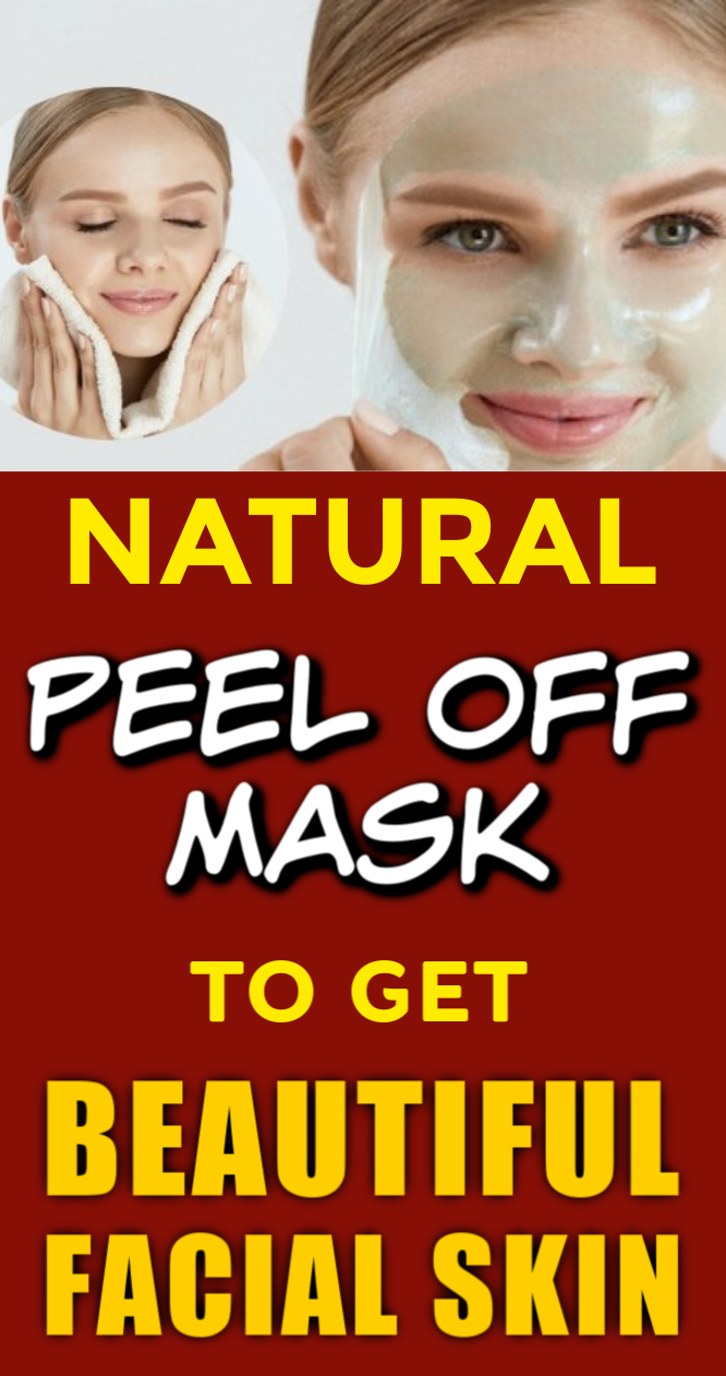 3 Natural Peel Off Masks To Get Beautiful Facial Skin -   17 skin care Masks facials ideas