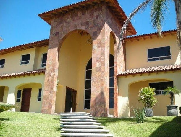 Gama de verde para exteriores fachadas de casas buscar - Pintura para casa ...