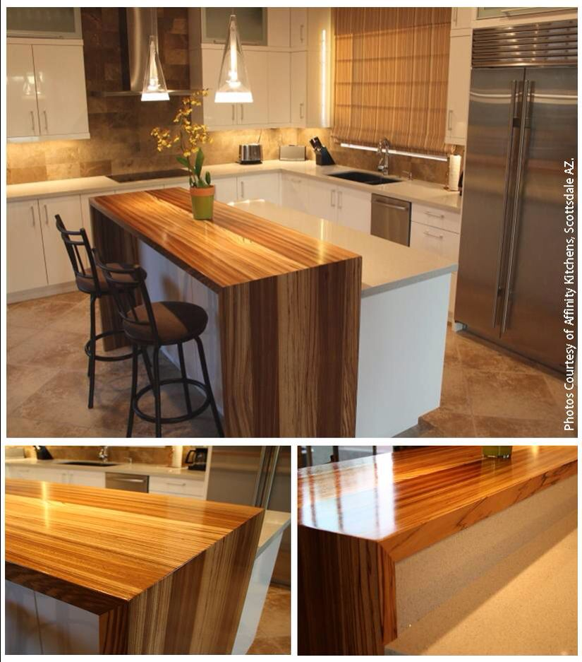 Waterfall Breakfast Bar Home Kitchens Cabin Kitchens Home