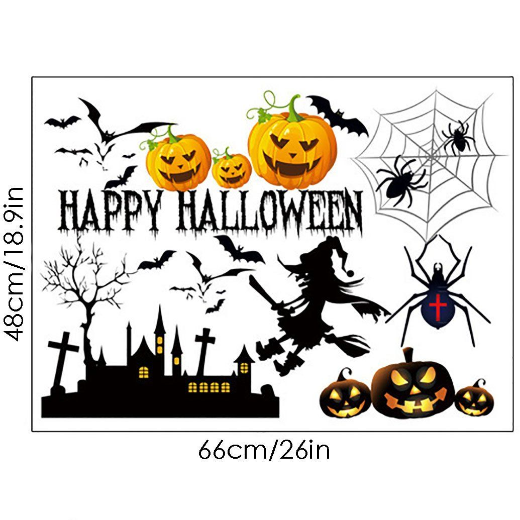 Ivenf Halloween Party Supplies Decorations Wall Decal Window Decor - halloween window decor