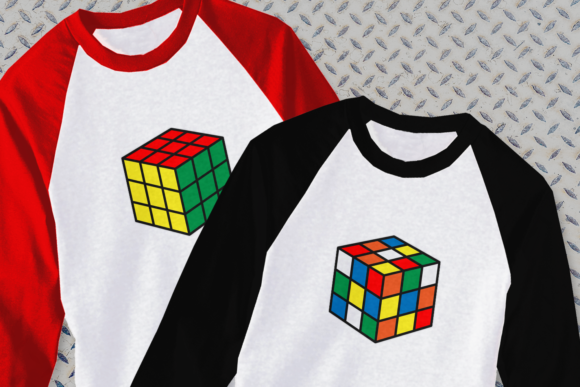 Rubik's Cube SVG (Graphic) by DesignedByGeeks