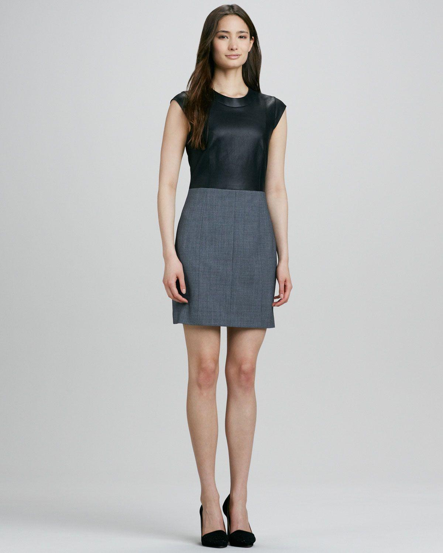 950f6b42317 Women's Black Orinthia C Dress with Leather Bodice   Fashion & Style ...