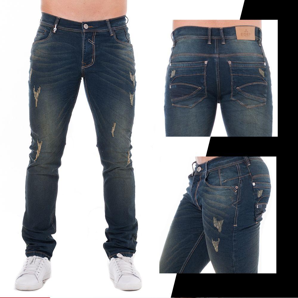 Pantalones Pantalones Vaqueros Para Hombres Lavados Usados De Mezclilla Cintura Slim Fit Ropa Calzado Y Complementos Aniversario Cozumel Gob Mx