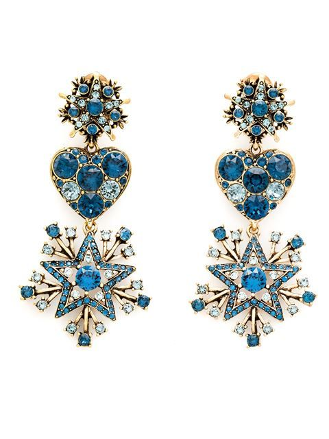 Shop Oscar de la Renta star drop clip-on earrings in Marissa Collections from the world's best independent boutiques at farfetch.com. Shop 300 boutiques at one address.