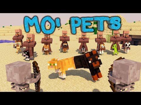 Minecraft Mo Pets Mod Showcase Baby Pets Dogcatplus Minions Minecraft Minecraft Mods Mini Games