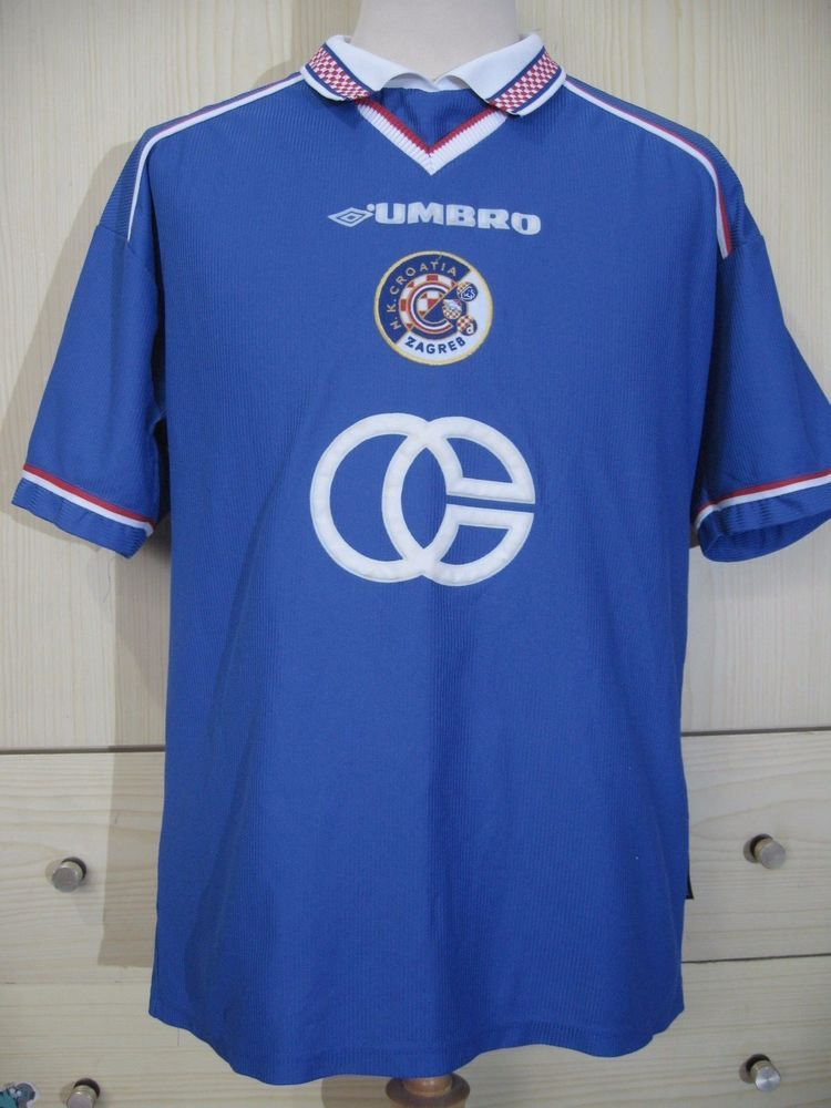 Dinamo Zagreb 1998 Croatia Home Umbro Football Soccer Jersey Shirt M 90s Vintage Umbro Dinamoza Classic Football Shirts Soccer Shirts Vintage Football Shirts