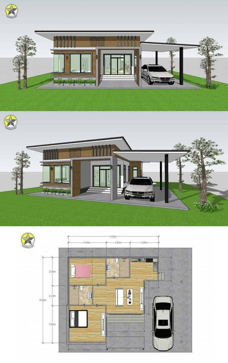 Petite And Compact Two Bedroom Single Storey House Design Ulric Home Philippines House Design Minimal House Design Small House Design Philippines