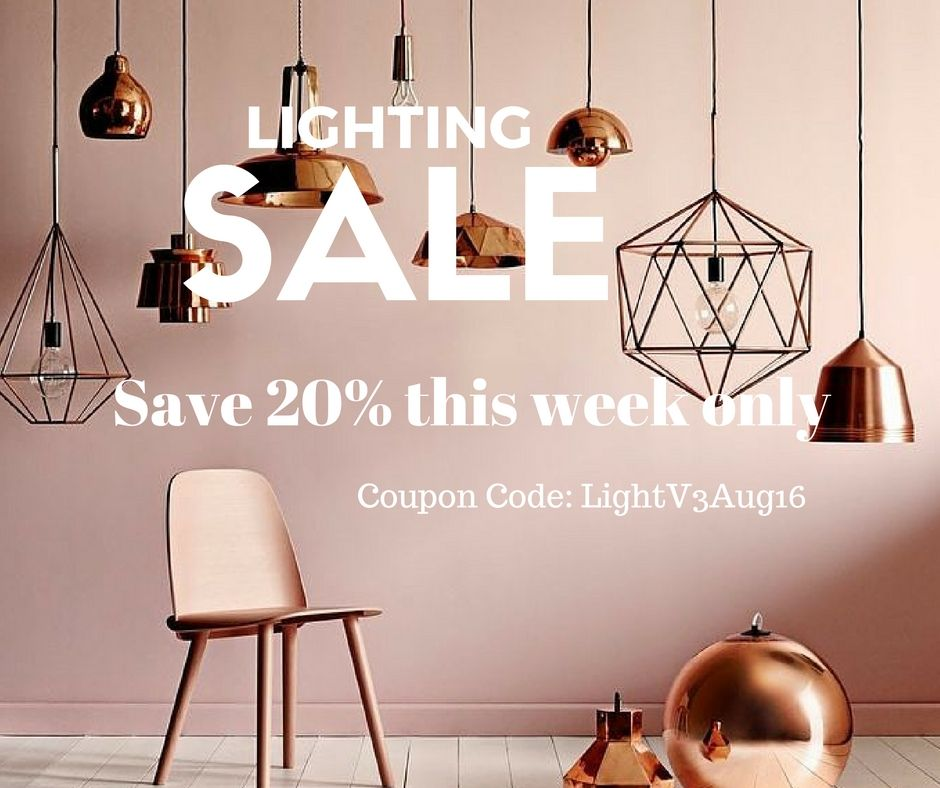 Lighting Sale!! This week only! Take 20% off