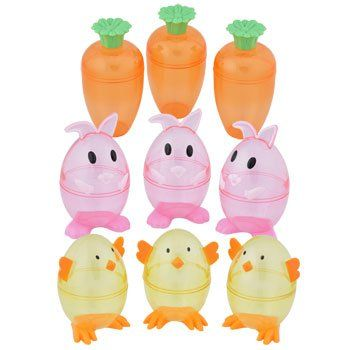 Set of 9 Easter Themed Plastic Egg Containers Brand New in Packaging
