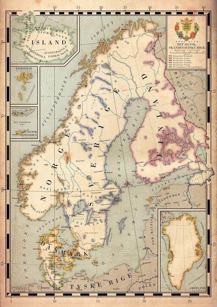Map Of The Scandinavian Empire By Regicollis Map Fantasy Map Map Design