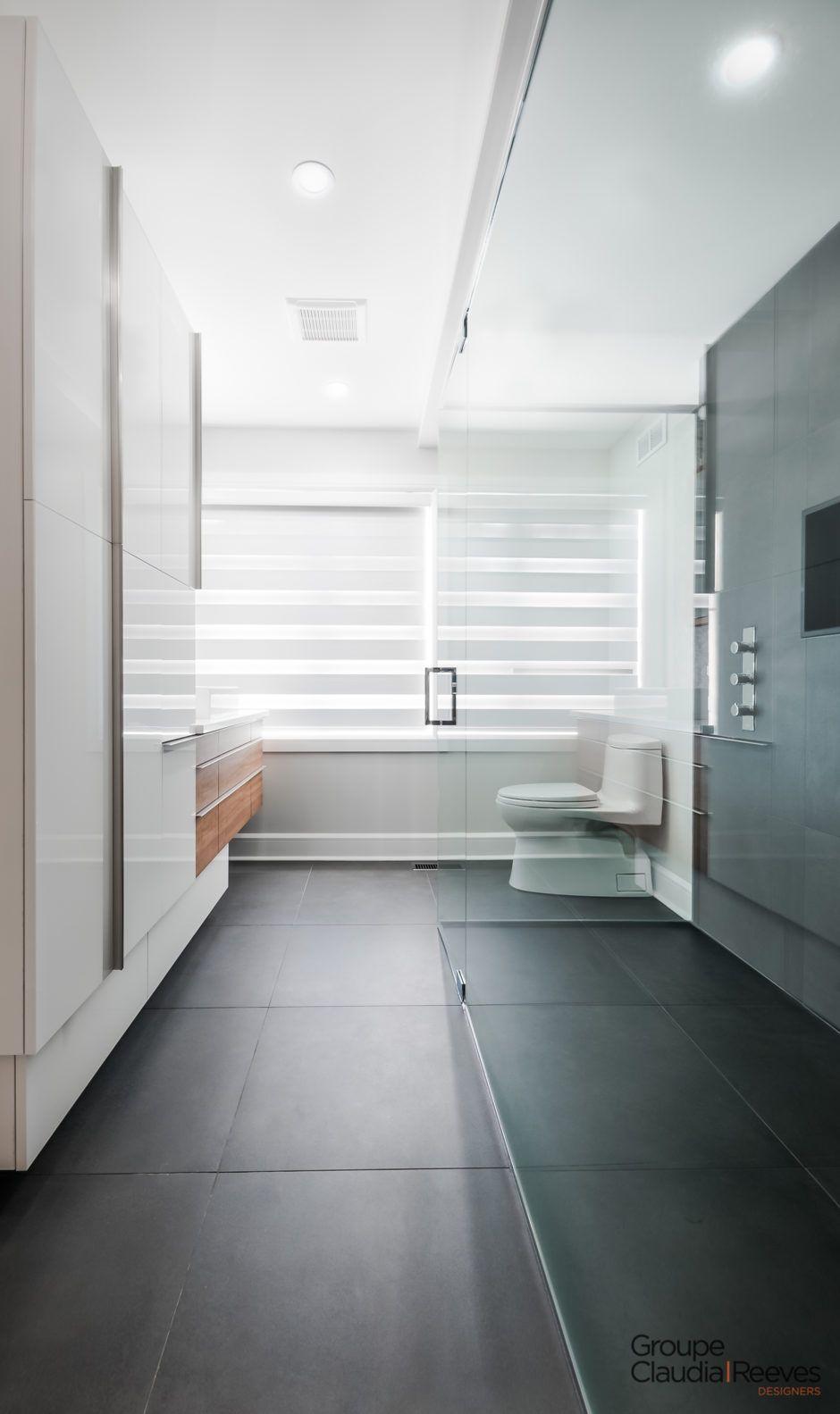 Chambre Et Salle De Bain Attenante salle de bain - chambre des maîtres - bibliothèque intégrée