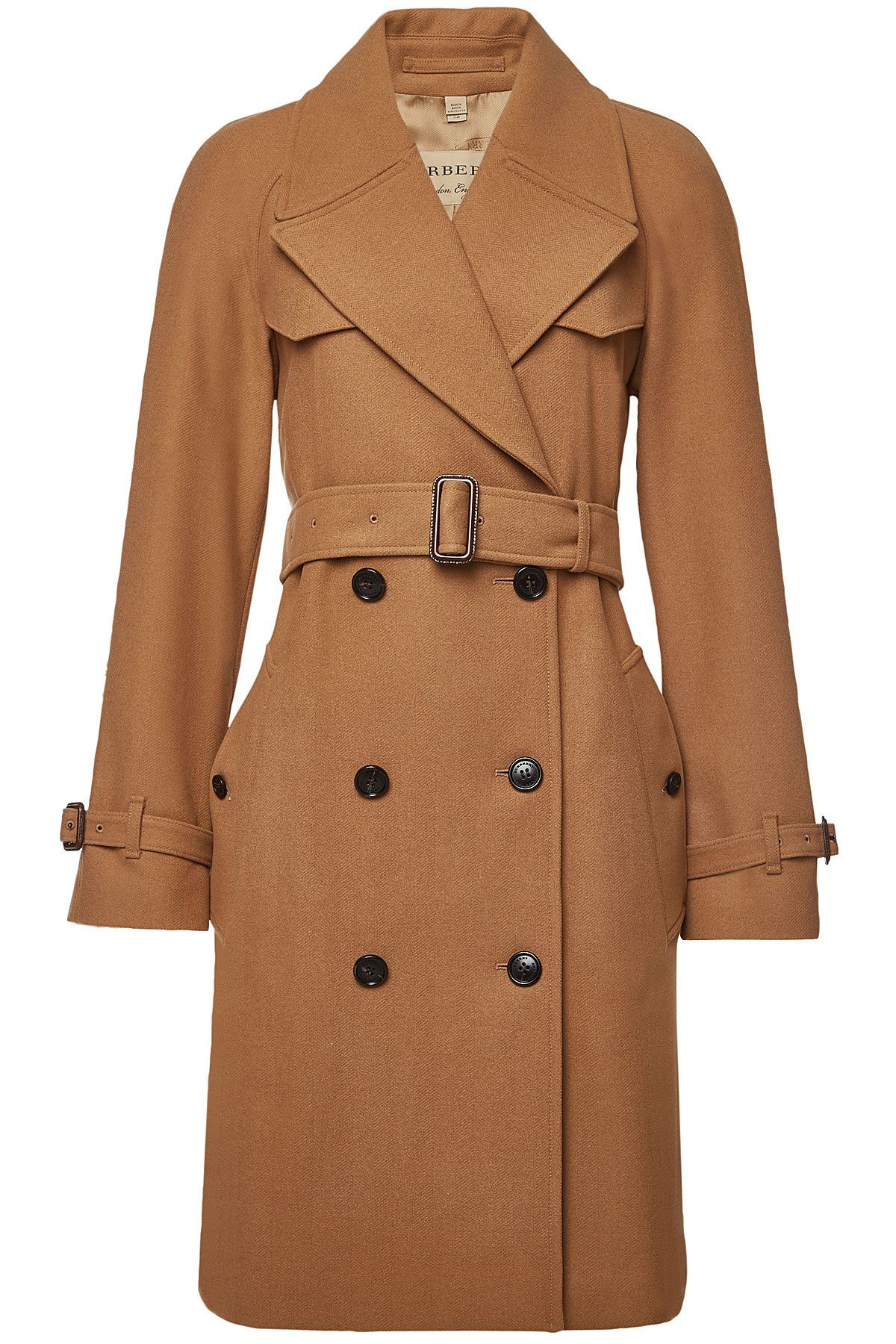 Burberry Cranston Coat With Wool And Cashmere On Stylebop Com Burberry Wool Coat Wool Coat Women Wool Trench Coat Women