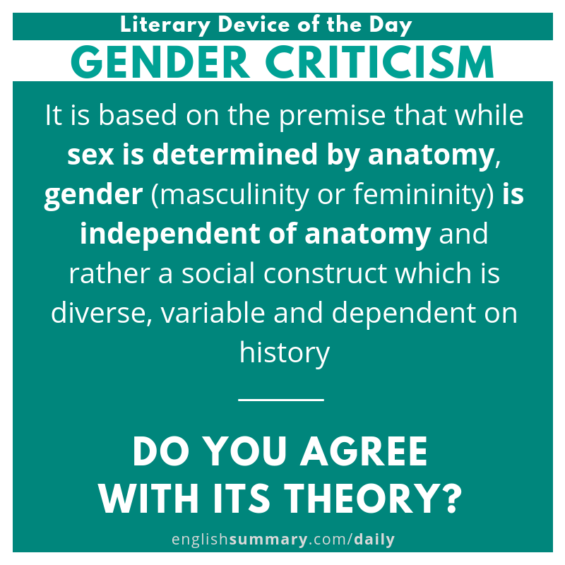 Gender Criticism Definition And Explanation Literary Theory Term Poetry Lessons Prose Paraphrase