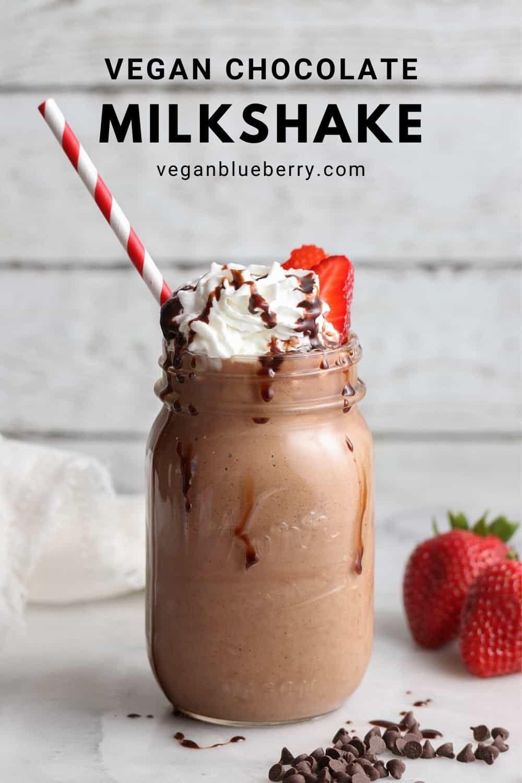 Ready For A Creamy Vegan Milkshake That Is Secretly Healthy This Delicious Chocolate Shake Is Free Vegan Milkshake Recipes Vegan Chocolate Chocolate Milkshake