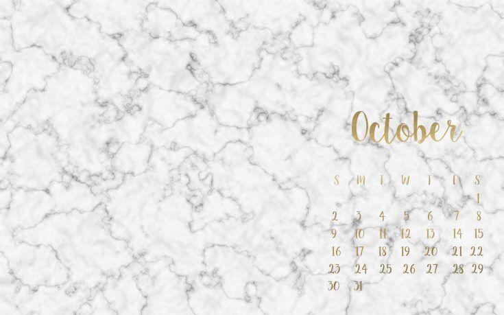 Free October Desktop Wallpapers Beauty And The Chic Desktop Wallpaper Fall Desktop Wallpaper Calendar Marble Desktop Wallpaper