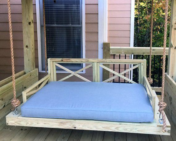 Sunbrella Custom Daybed Cushion Porch Swing Glider Swing Bed