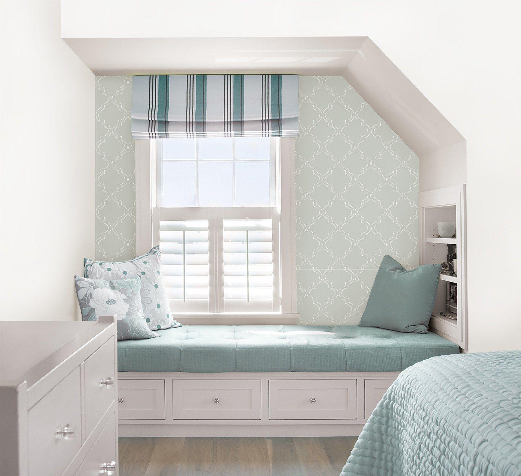 Grey Quatrefoil Peel And Stick Wallpaper in 2020 Home