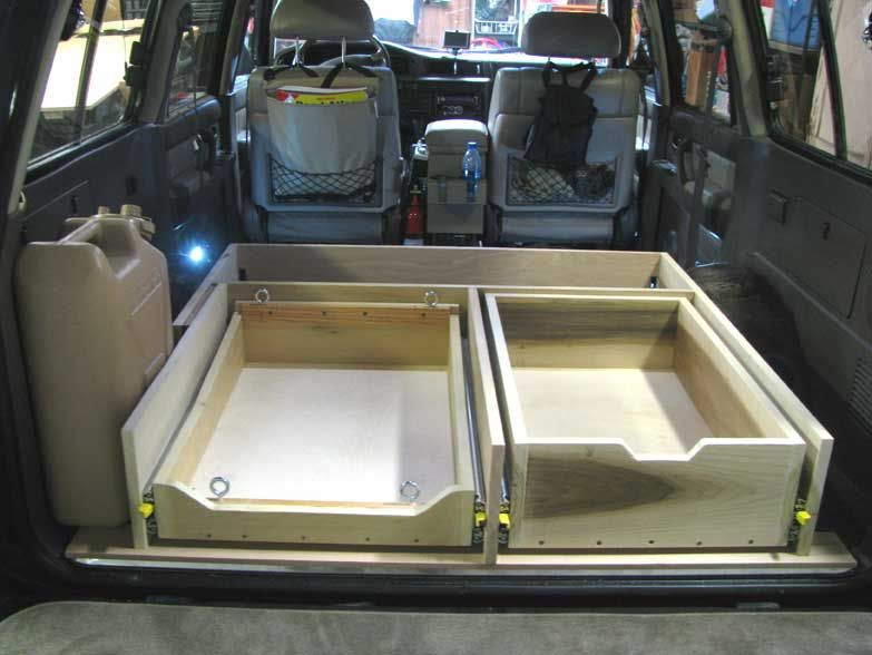 Camper Conversion Drawer System Suv Camping Minivan Camping Camper Conversion