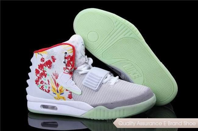 wholesale dealer df3c4 9364c ... canada nike air yeezy 2 bird of paradise white grey silver basketball  shoes.our store